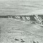 Январский гром. Эскадренные миноносцы Балтийского флота ведут огонь по позициям немецких войск 14 января 1944 г.
