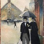 """5RPN — A copy of Gustave Caillebotte's """"Paris Street in the Rain""""."""