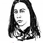 Девушка с длинными волосами темного красно-каштанового оттенка